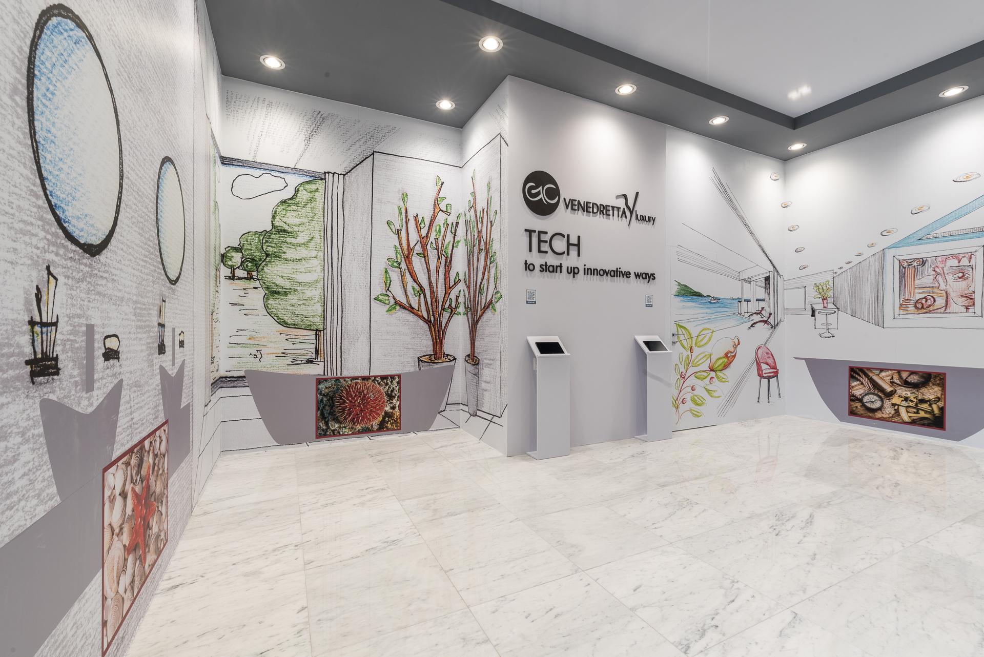 Architettura temporanea: Stand Gualtiero Corsi MarmoMac 2019