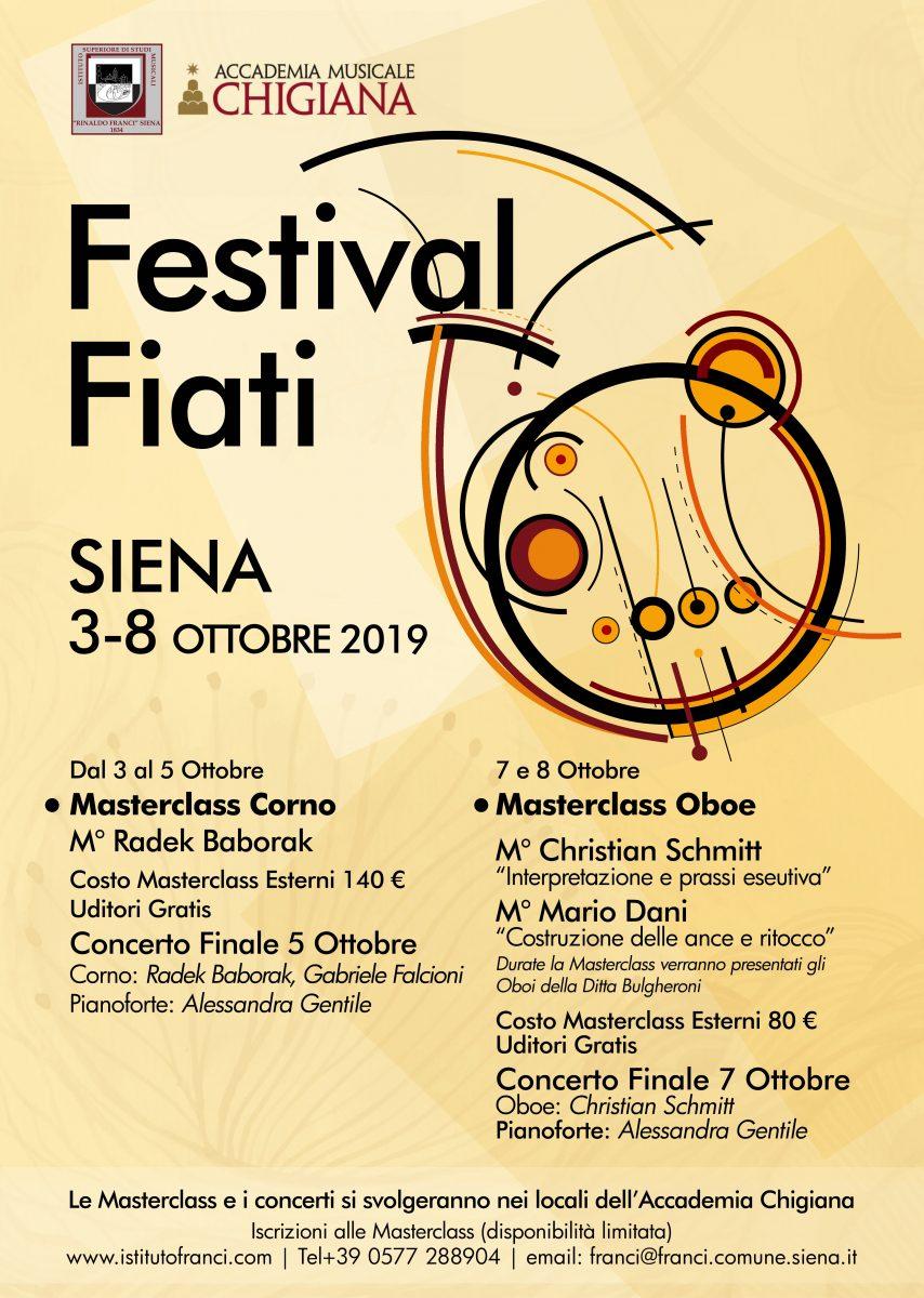 locandina e manifesto Festival Fiati Siena