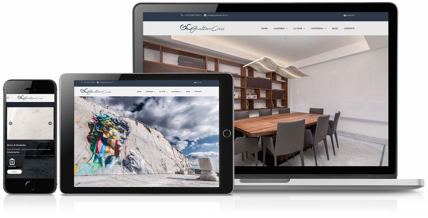 realizzazione sito web gualtiero corsi - marmo di carrara - toscana