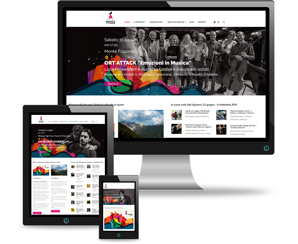 restyling sito web massa carrara del www.musicasulleapuane.it