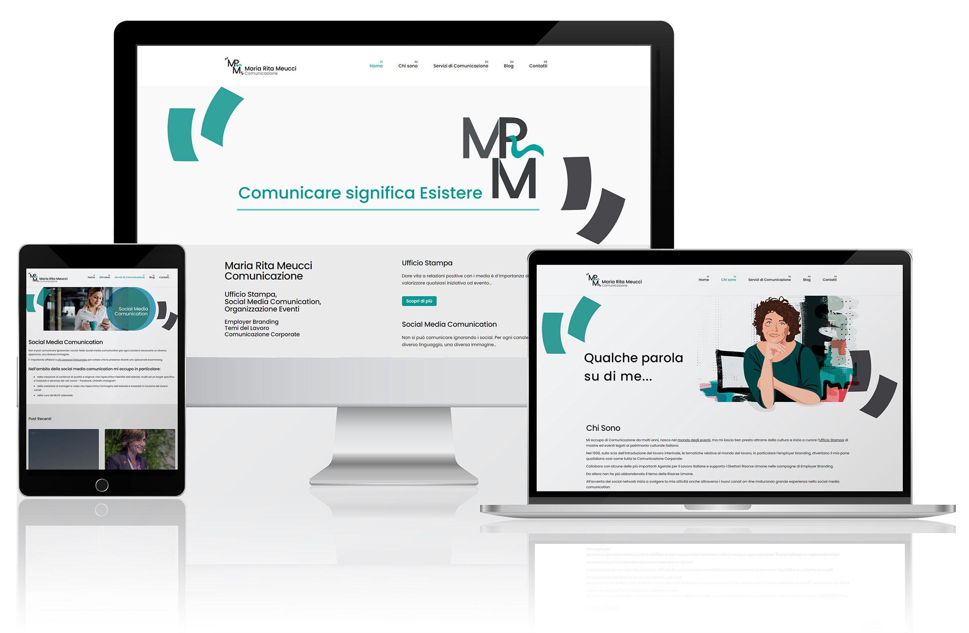 Realizzazione sito web Maria Rita Meucci